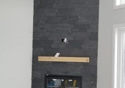 Pose de céramique cheminée à Joliette - Carrelage K2 Inc. Poseur de céramique à Joliette et ses environs